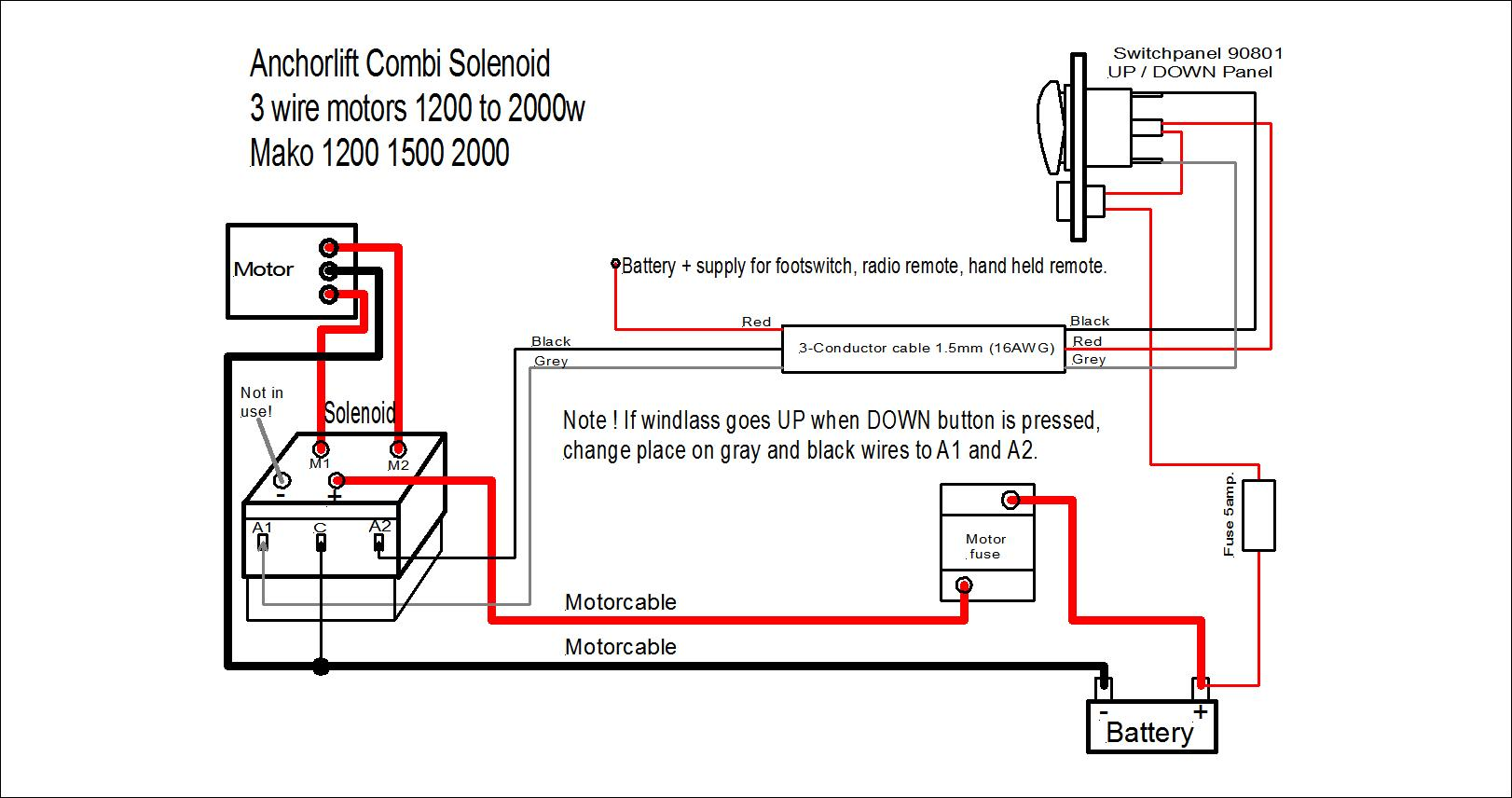 Anchorlift Control Units And Electrical Components Remote Solenoid Wiring Diagram 2 Wire Motor